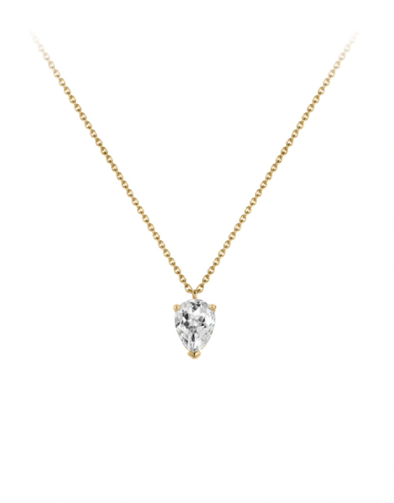 BLOOM WHITE TOPAZ NECKLACE