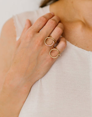 Ring 9K gold - Curl ring - Nayestones