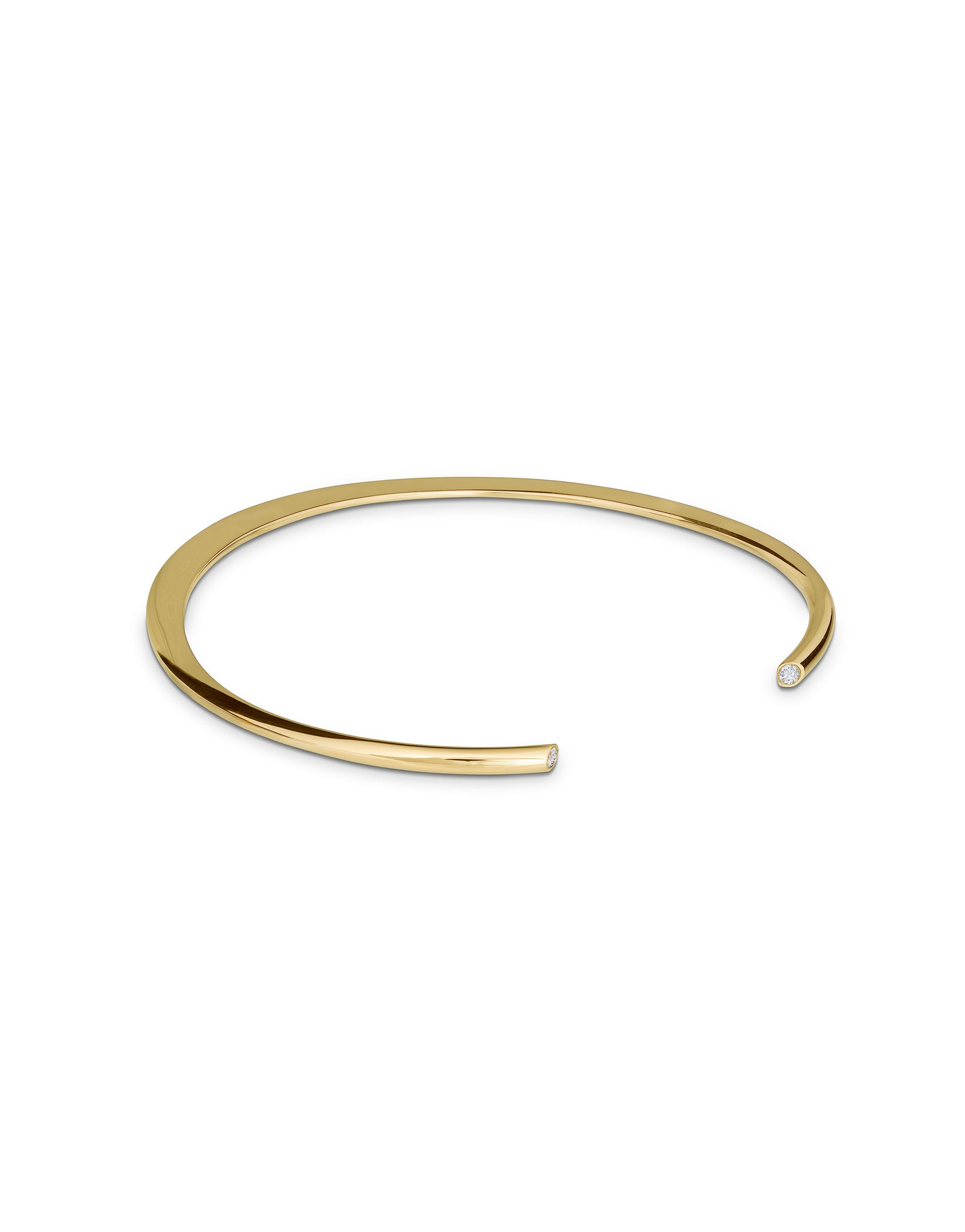 Bracelet 18K gold with diamonds - Full Moon bracelet diamonds - Nayestones