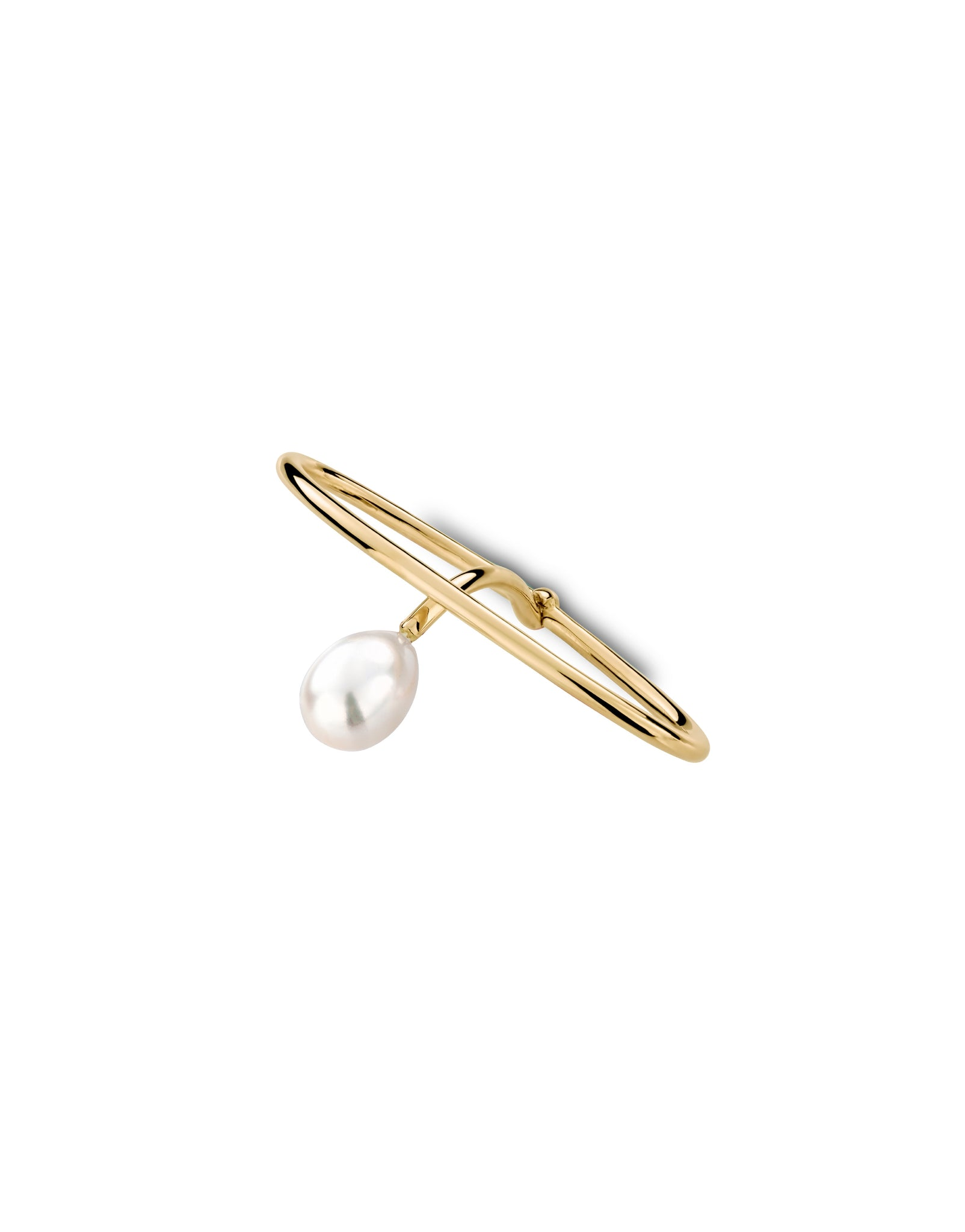 Double ring 18K gold pearl - Double ring Julia pearl - Nayestones