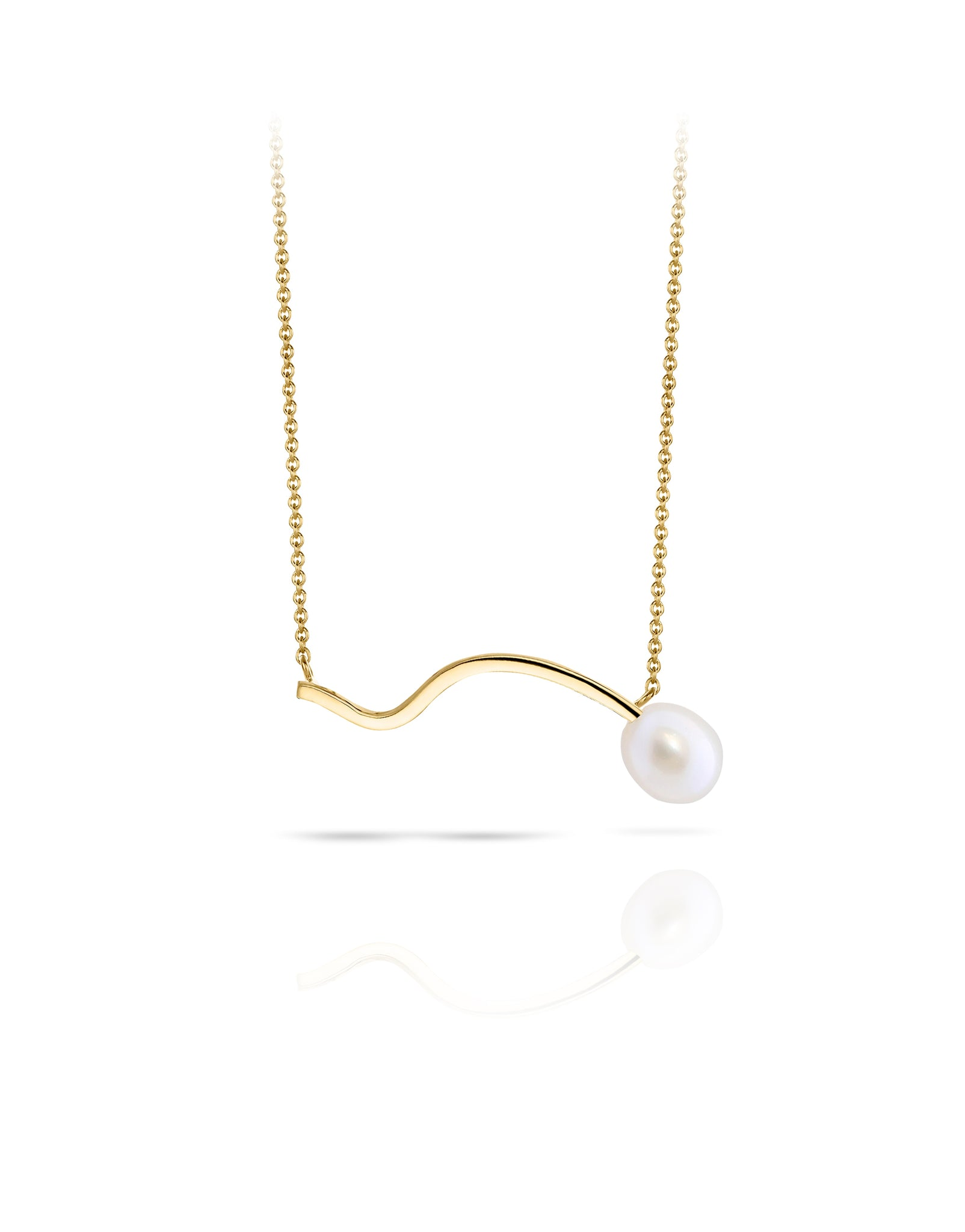 Necklace 18K gold pearl - Lina pearl necklace - Nayestones
