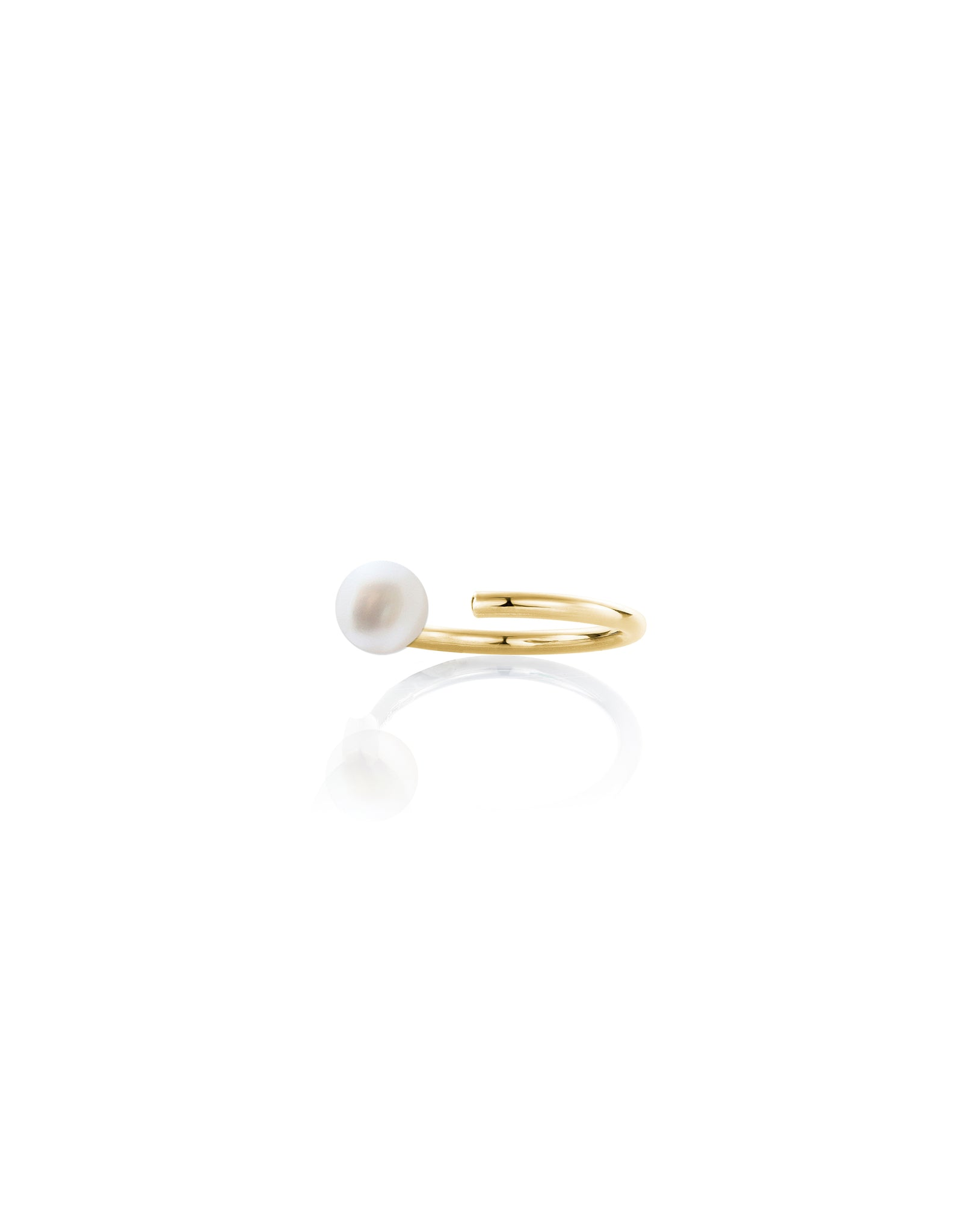 Ring 9K gold pearl - octogone ring pearl - Nayestones