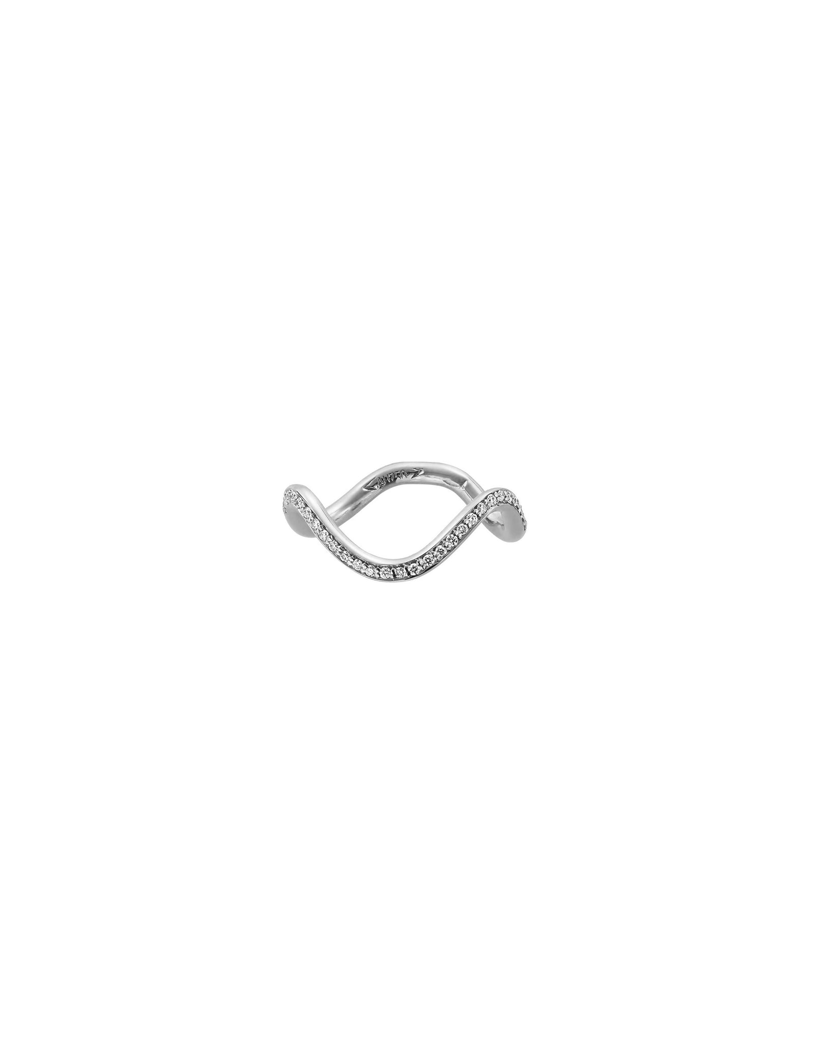 Ring 18K gold diamonds knuckle - Petite comete knuckle ring diamonds - Nayestones
