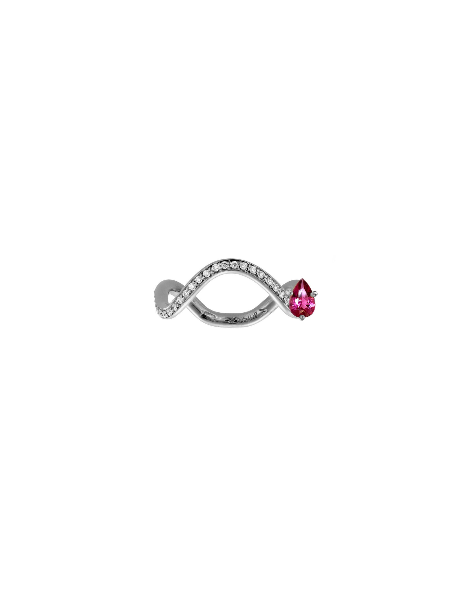 Nayestones Fine Jewelry Pink Tourmaline Ring with Diamond October Birthstone