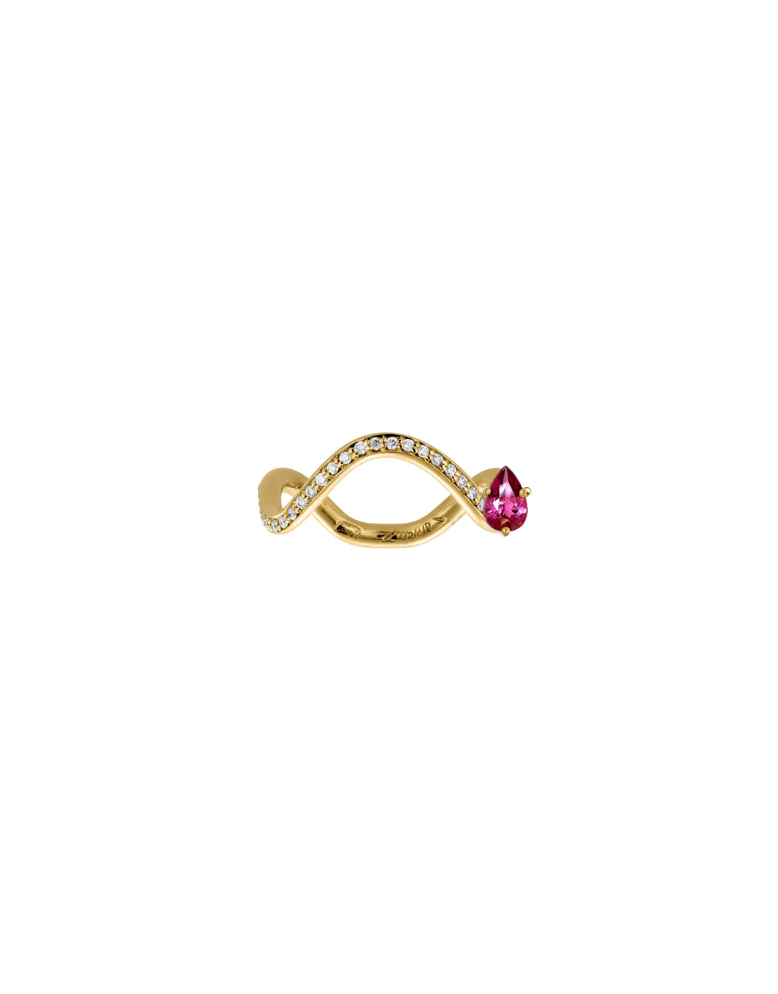 PETITE COMETE RING TOURMALINE AND DIAMOND