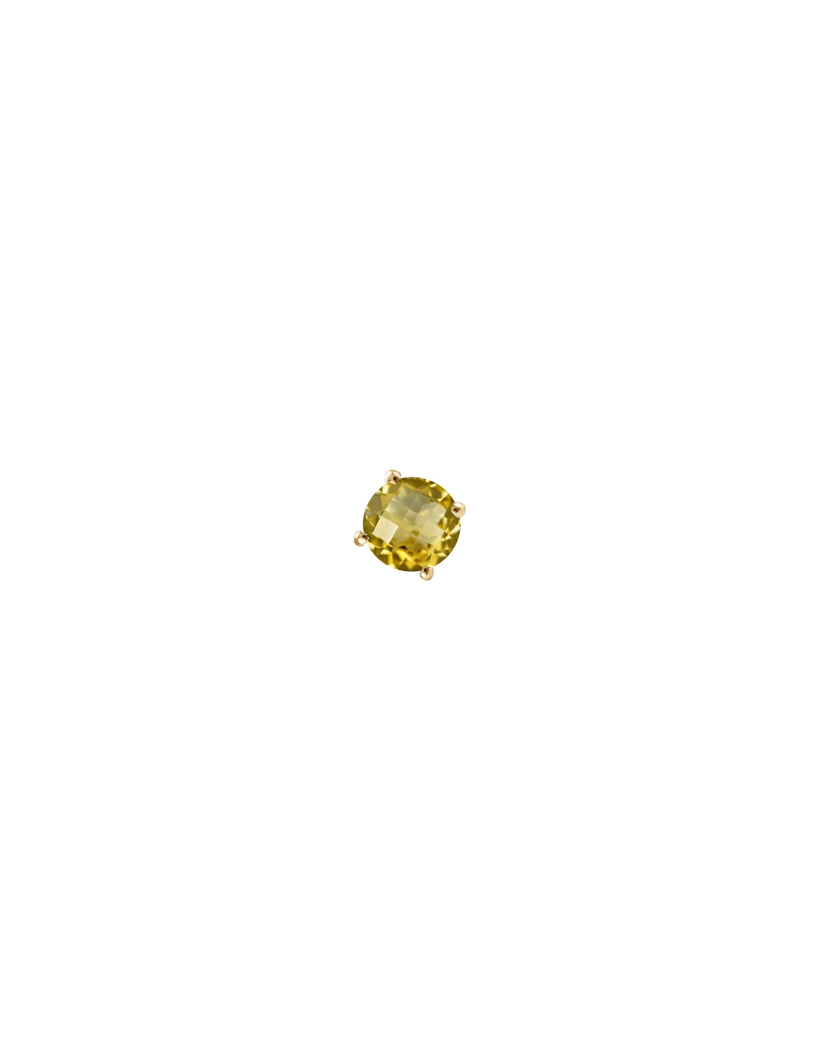 stud earring citrine gold - personalized stud earring - Nayestones