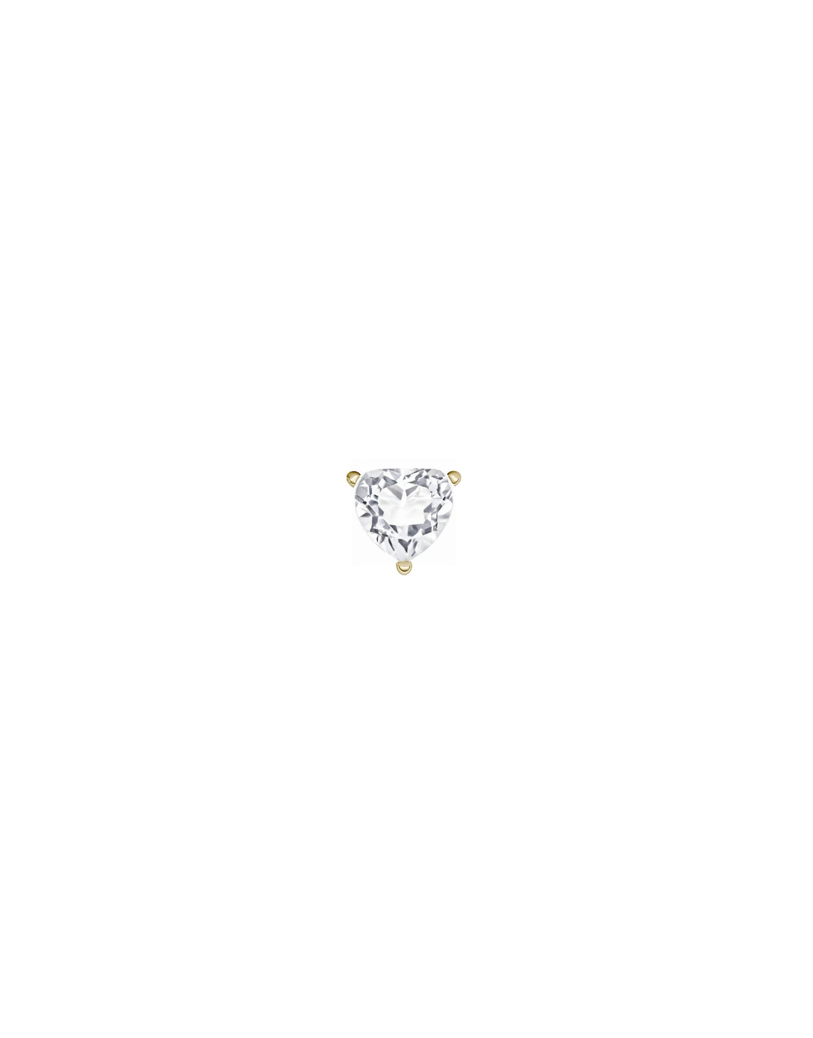 stud earring white topaz gold - personalized stud earring - Nayestones