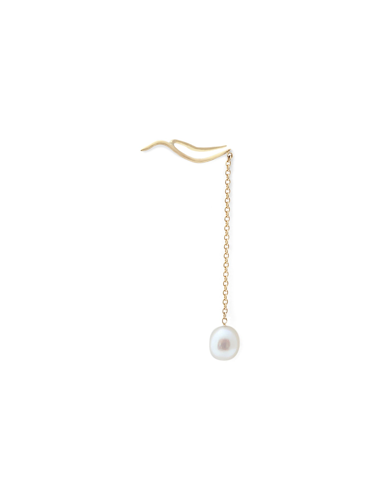 Earring 18K gold pearl - Tina earring pearl - Nayestones