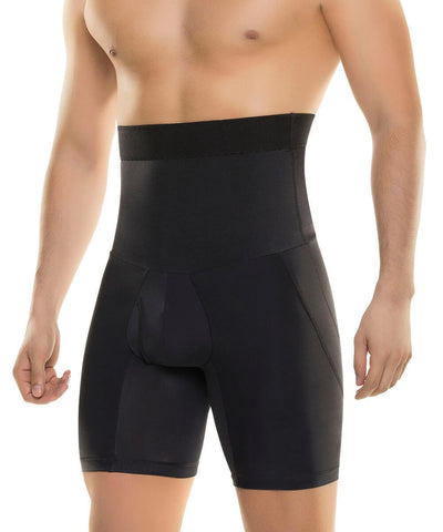 612 - Men's High Waist Abdomen Control Boxer Brief