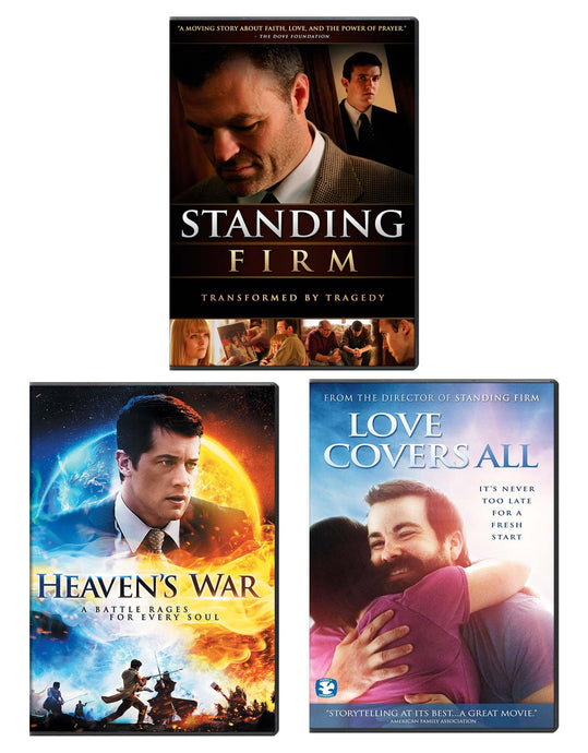 Standing Firm, Heaven's War, & Love Covers All - DVD 3-Pack