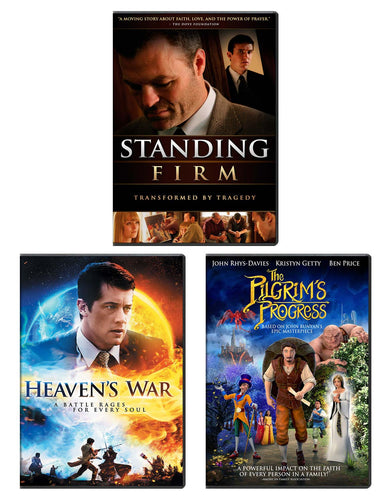 Standing Firm, Heaven's War, & Pilgrim's Progress - DVD 3-Pack