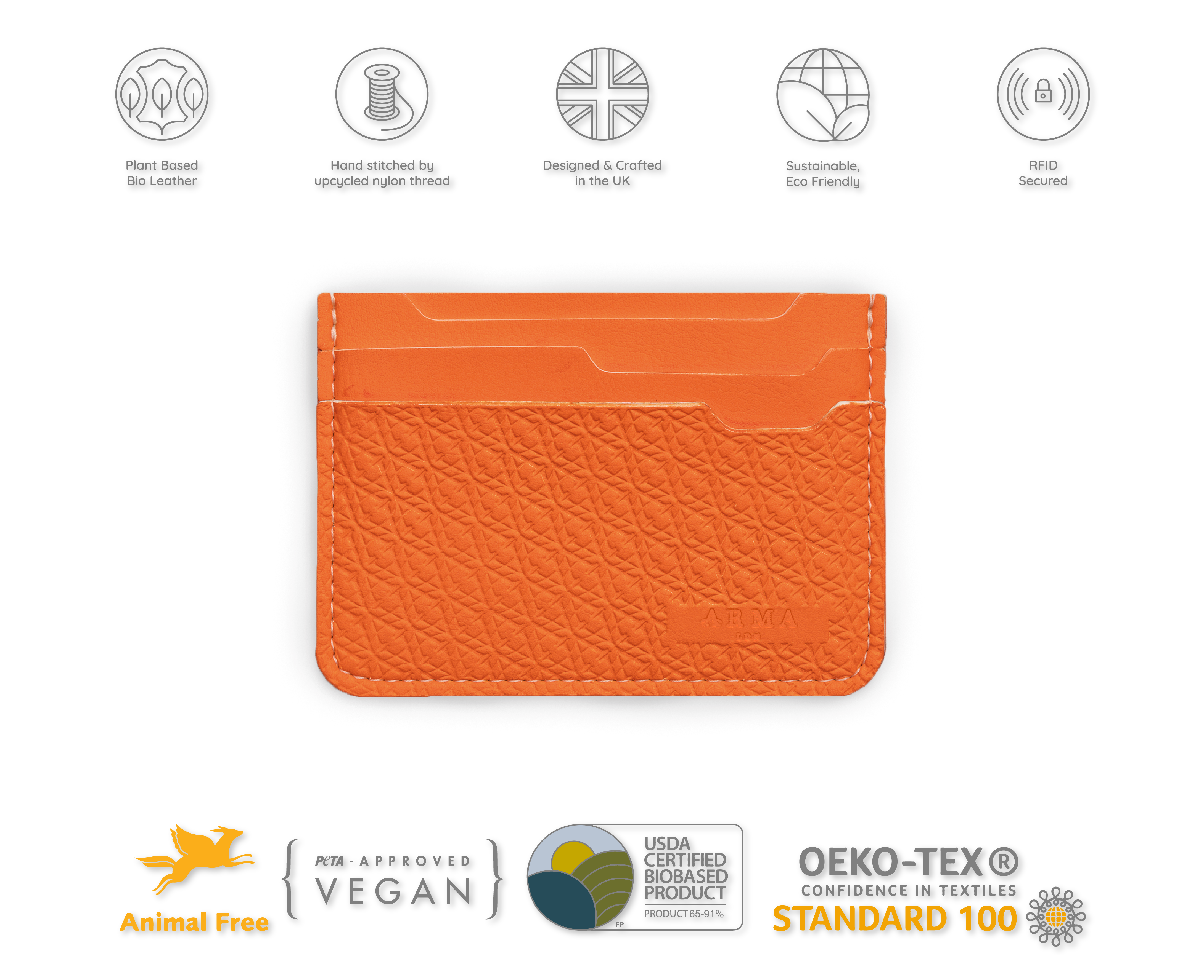 The Dalston Handmade RFID Vegan Leather Wallet