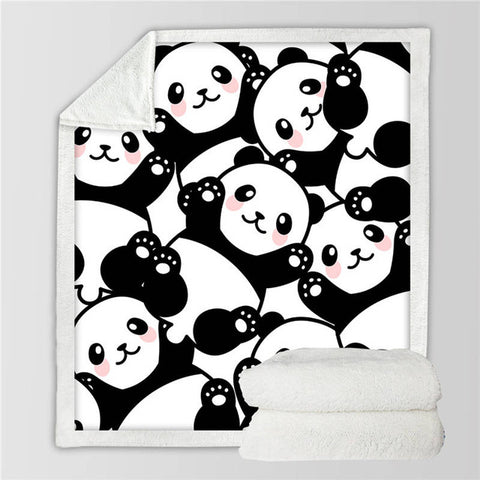 Baby Panda Fleece Blanket