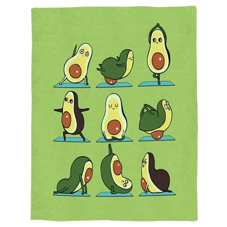 Yoga Avocado Fleece Blanket