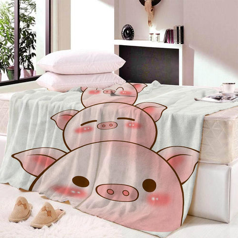 Three Little Pigs Fleece Blanket