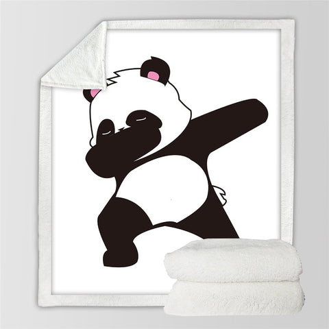 Dabbing Panda Fleece Blanket