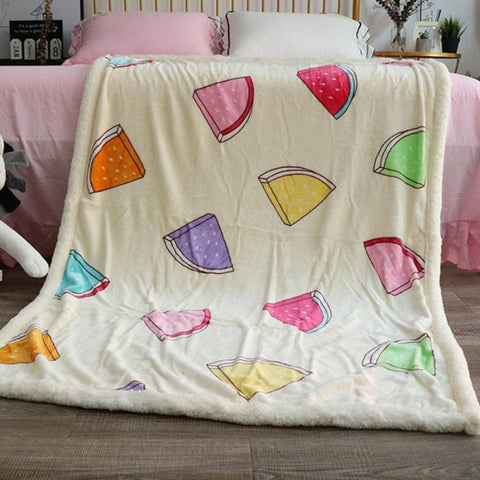 Watermelon Fleece Blanket