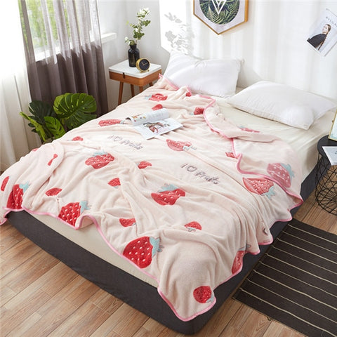 Strawberry Fleece Blanket