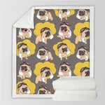 Pugs in the Sky Fleece Blanket