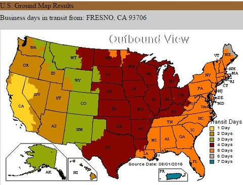 outbound ups map