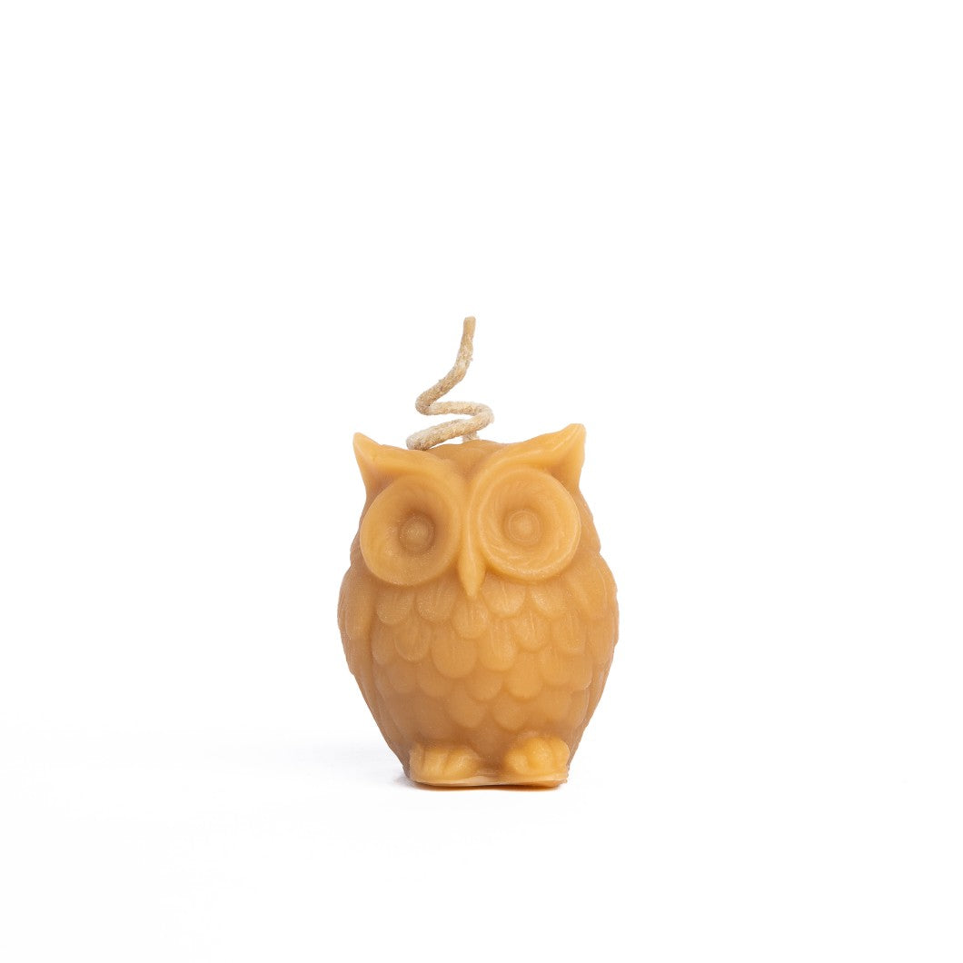 Beeswax Owl Candle - Yellow