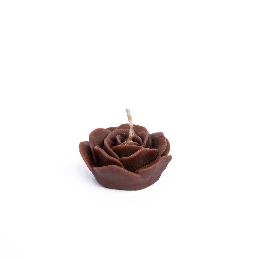 Beeswax Rose Floating Candle - Coffee