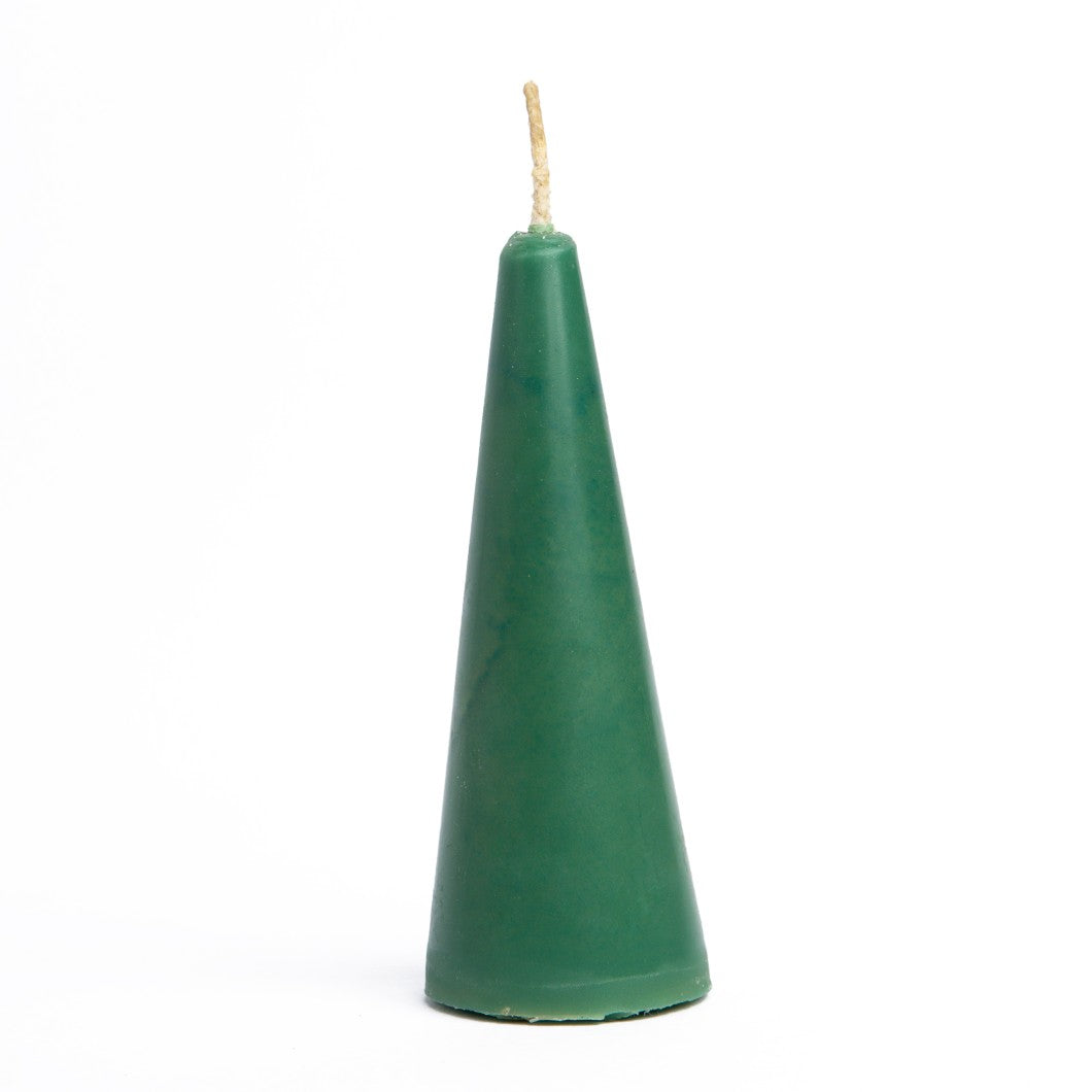 Beeswax Pillar Candle Sea Green - 55 gm