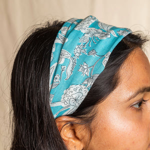 FABRIC HAIRBAND - LIGHT BLUE
