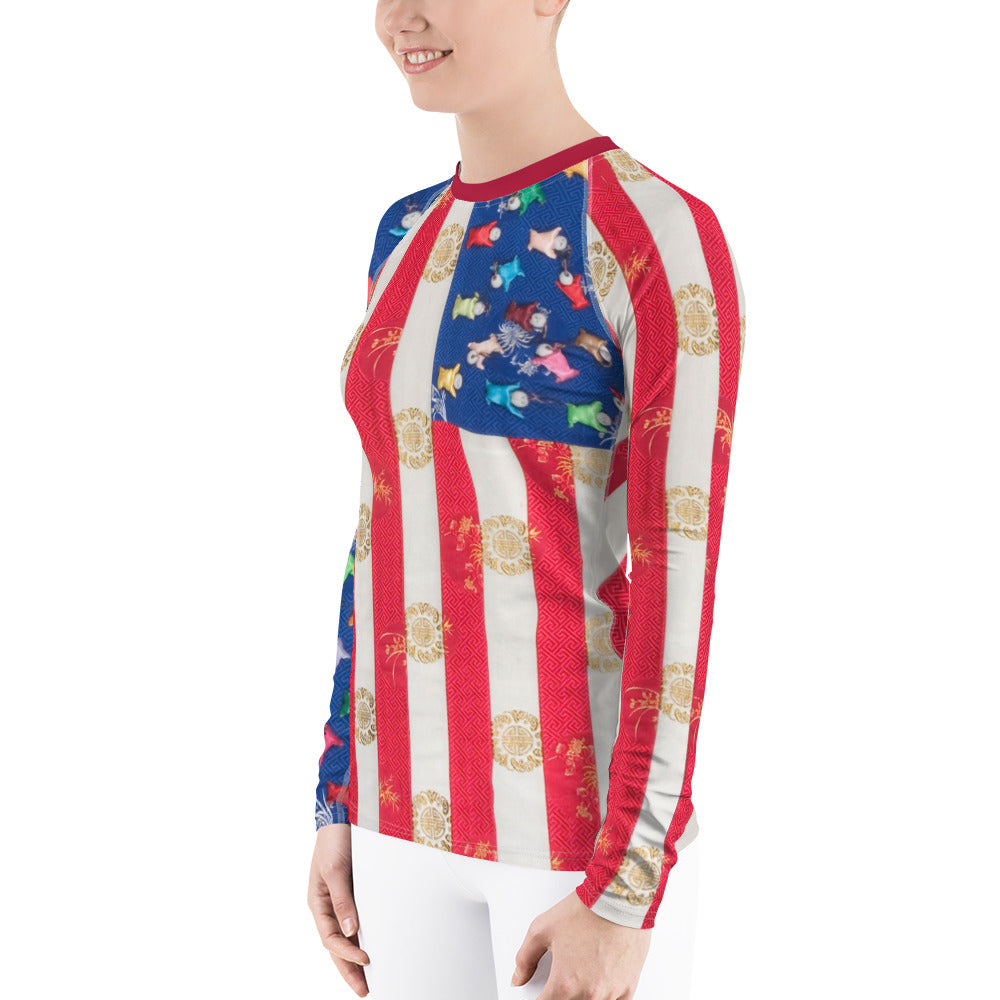 Women's Rash Guard (Chinese)