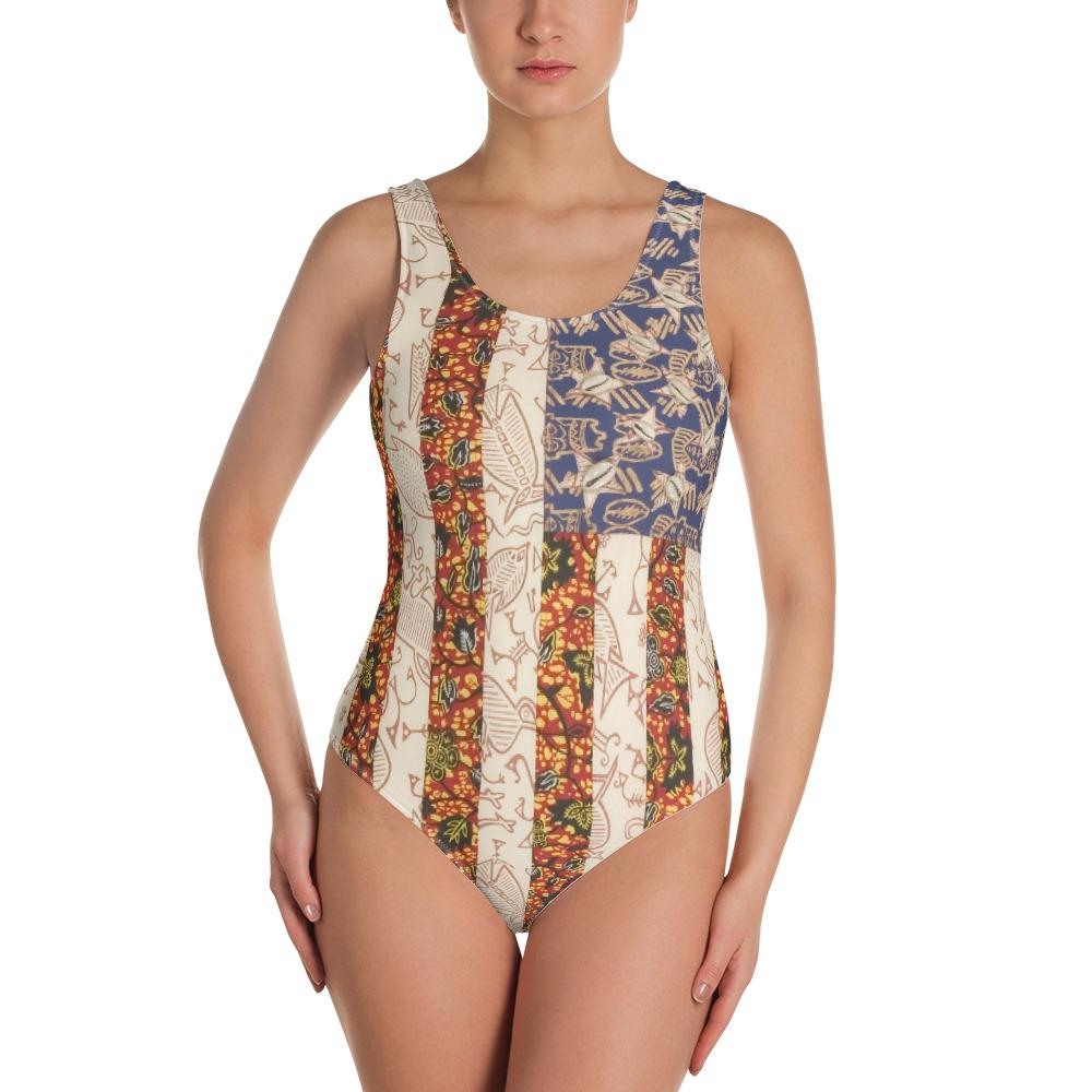 Swimsuit Women One-Piece (African)