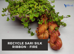 Recycle Sari Silk Ribbon - Fire