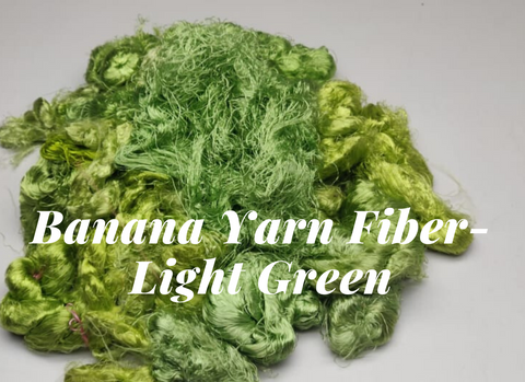 Banana Yarn Fiber - Light Green - silkrouteindia