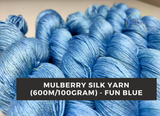 Mulberry Yarn - 600M/100Gr. - Fun Blue - silkrouteindia