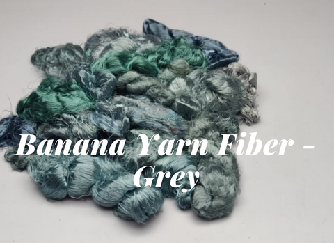 Banana Yarn Fiber - Grey