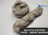 Cotton Frizz Ribbon - Smoky Brown
