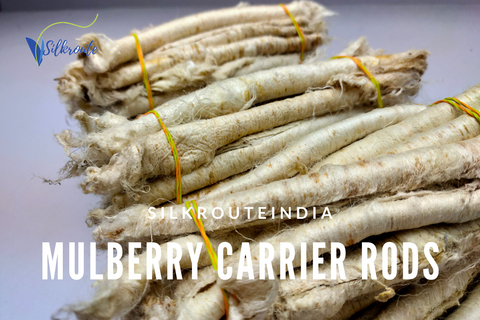 Mulberry Silk Carrier Rods - silkrouteindia