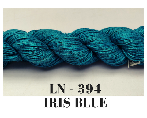 Linen Yarn- Iris Blue - silk_routeindia