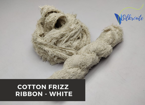 Cotton Frizz Ribbon - White