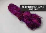 Recycled Sari Silk Yarn-purple, Recycle Sari Silk, Recycled Sari Silk, Sari Silk, Silk Yarn, Recycled Silk Yarn | Silk Route India