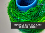Recycled Sari Silk Yarn (Prime*) - Green