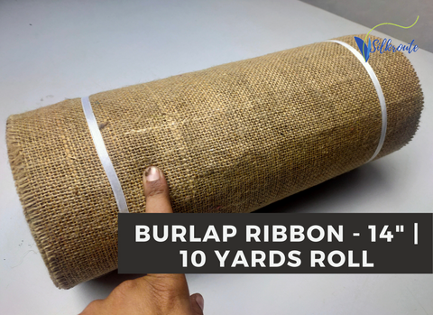 "Burlap Ribbon - [14"" Wide]"