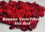 Banana Yarn Fiber - Hot Red