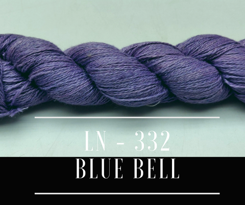 Linen Sportweight Yarn - BlueBell, Linen Yarn, Sportweight Yarn, Crochet Yarn, Weaving Yarn, Sensitive Skin Yarn, Summer Yarn | SILKROUTEINDIA