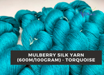 Mulberry Yarn - 600M/100Gr. - Torquoise - silkrouteindia