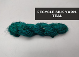 Recycled Sari Silk Yarn-teal, Recycle Sari Silk Yarn, Sari Silk Yarn, Silk Yarn, Sari Yarn, Recycle Silk Yarn | Silkrouteindia