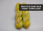 Recycled Sari Silk Yarn-Corn Leaf - silkrouteindia