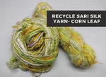 Recycled Sari Silk Yarn-Corn Leaf - silk_routeindia