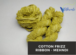 Cotton Frizz Ribbon - Mehndi - silkrouteindia