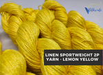 Linen Sportweight 2 PLY Yarn - Lemon Yellow