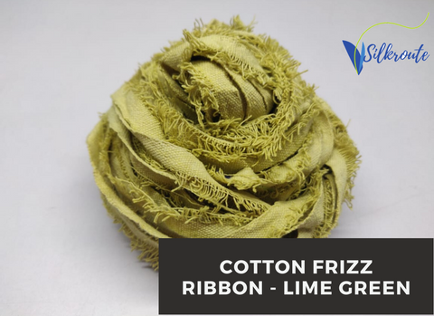 Cotton Frizz Ribbon - Lime Green